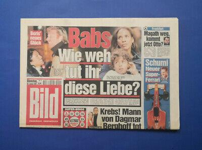Bild Zeitung - 30.1. 2001 - Joschka Fischer * Felix Magath * Der neue F1 Ferrari