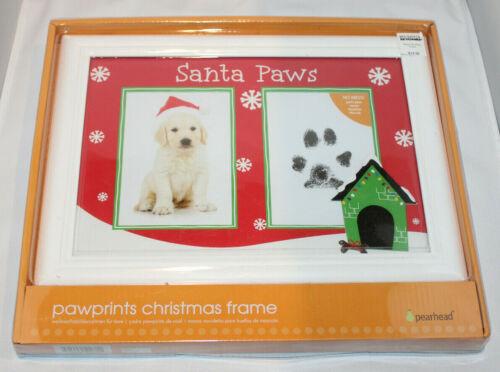 Santa Paws pawprints Christmas frame Pearhead NEW