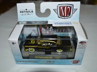 (2017 M2 MACHINES CLASS OF 1957 SERIES 1957 FORD FAIRLANE 500 WMTS08 GOLD CHASE)