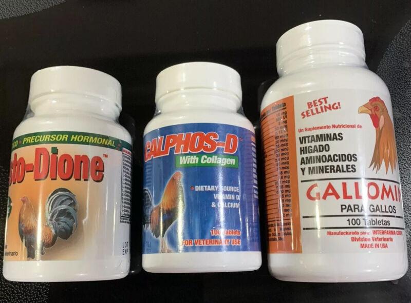 COMBOX 3 PARA GALLOS/ROOSTER GALLOMIN, TESTODIONE & CALPHOS D.