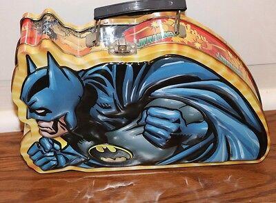 BATMAN COLLECTIBLE 3D TIN LUNCH BOX STORAGE CASE THE JOKER DC COMIC PAIL TOT