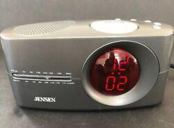 Jensen JCR-165 Alarm Clock AM/FM Radio Tested Works