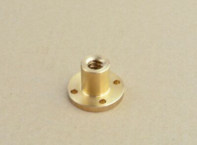 12mm T6 Right Hand Flange Trapezoidal Brass Nut Acme Thread Lead 1 - 12mm 75 Zx
