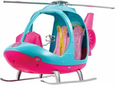 Barbie Dreamhouse Adventures Helicopter, Pink and Blue with Spinning Rotor