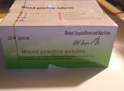 Mixed Practice Sutures Non Absorbable Suture 24 Pcs X 75cm 19mm 38 Usp 30 40