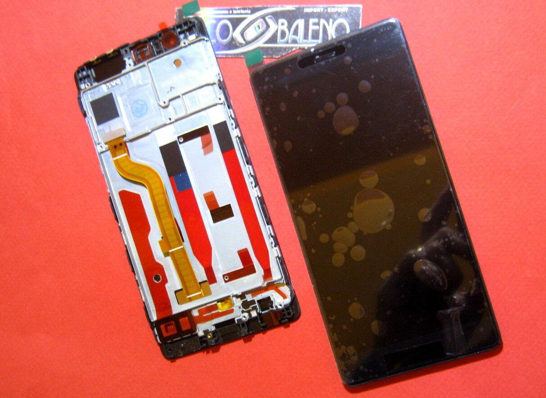 DISPLAY LCD +TOUCH SCREEN SCHERMO +CORNICE HUAWEI P9 EVA-L09 NERO FRAME COVER