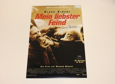 DIRECTOR WERNER HERZOG SIGNED MY BEST FRIEND 12x18 MOVIE POSTER COA KLAUS (Best Poster Directors Posters)