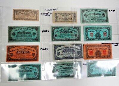 12 Piece Vintage Profit Sharing Coupons Circa 1930s Cigar, - Candy Coupons