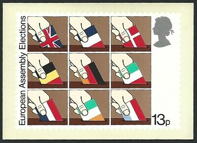 Great Britain 1979 European Assembly Elections Stamp Card
