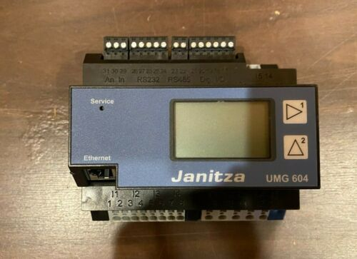 Janitza UMG604 E Multifunction Power Quality Analyzer Solar & Other Applications