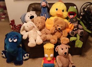 Large plush toys for sale Inc Eeyore & Bart Simpson Milton Brisbane North West Preview
