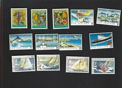 New Zealand sc#854-6, 964-9, 1085-8 (1986-92) Complete MNH