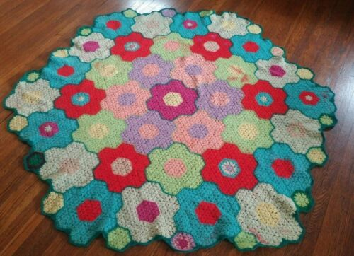 Vintage Afghan Knit Crochet Grandmother