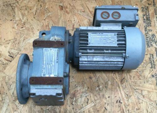 SEW Eurodrive .75 HP Motor DFT80K4 1700 RPM w/ Gear Drive 51.7 Ratio FAF37DT80K4