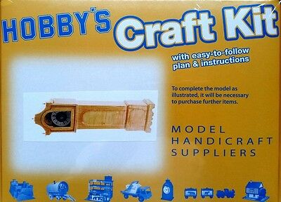 Grandfather Clock Matchstick Model Craft Kit by Hobby's