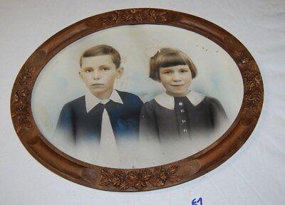 E1 ancien cadre en bois 1960 70