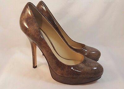 Lknew Joan   David Flipp Patent Leather Stiletto Heel Platform Pumps Gold Black