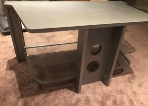 Tv stand glass entertainment unit