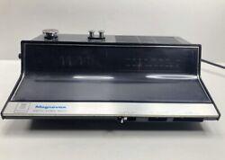 Magnavox Vintage Digital Flip Number Clock Radio Retro Style 1R1736