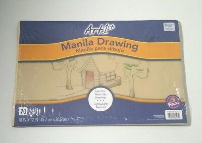 Manila Papier (Pacon PAC103198 Art1st 70 Sheet Manila Drawing Papers 18