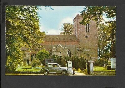 Vintage  Colour Postcard Out Side Street View Church West Mersea  Essex