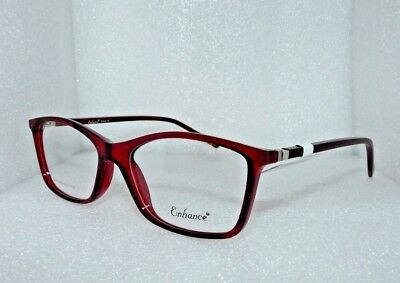 NEW NEW YORK EYE ENHANCE EN3942 EYEGLASSES GLASSES FRAMES 54-18-143 BURGUNDY