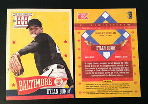 2013-Hometown-Heroes-Photo-Variation-SP-265-DYLAN-BUNDY-RC-Orioles-High-Number