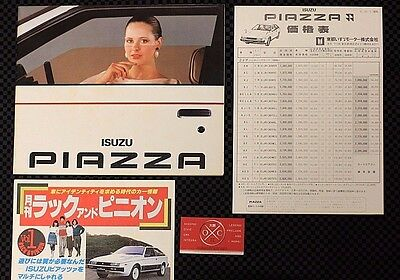 Rare JDM Isuzu Piazza Brochure Catalog Impulse First Gen 81 82 83 84 Lotus JR120
