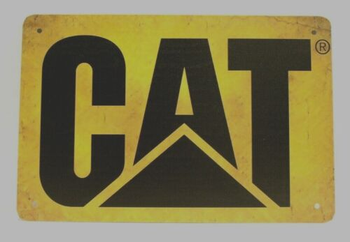 Caterpillar Cat Tin Metal Sign Vintage Style Ad Earth Mover Heavy Equipment 1