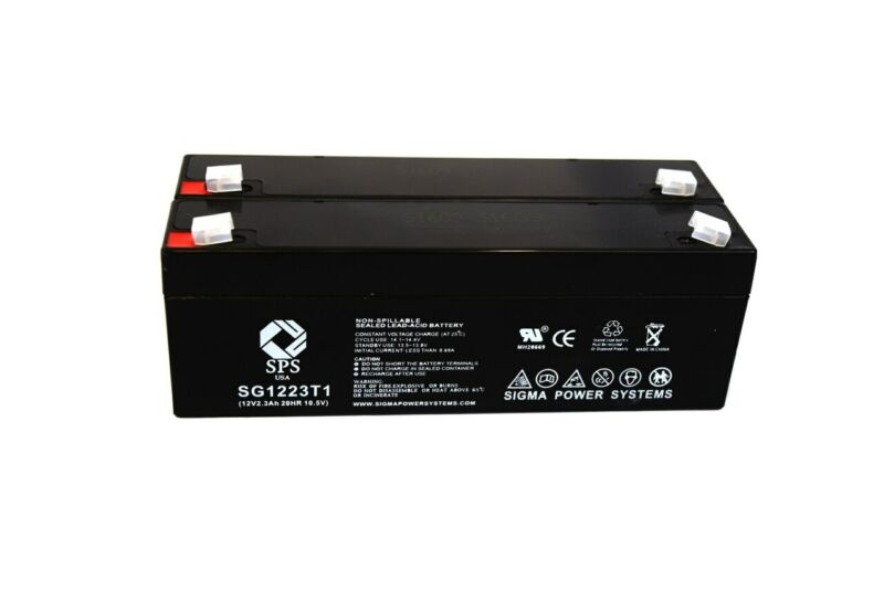 SPS Brand 12V 2.3 Ah Replacement Battery for Dr Power Equipment 24749 (2 Pack)