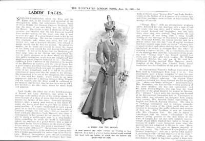 419b16a02b 1906 Antique Print - FASHION Ladies Dress Moors Shooting Tweed Leather (74)