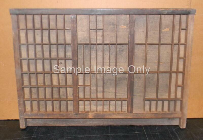 Letterpress Antique Printer Type Case Wood Drawer Shadowbox no handle CA10 12#