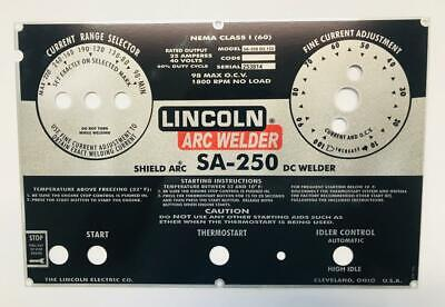 Lincoln Shield Arc Welders Sa-250 Part L-5790 Aluminum Control Plate