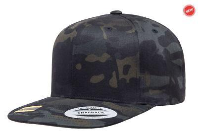 Yupoong® 6789M Premium Curved Visor Adjustable Snapback Hat Plain Blank Ball Cap