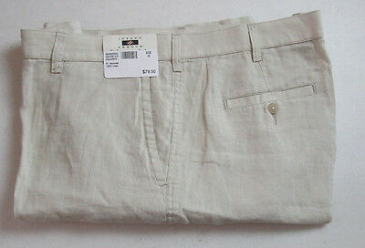 89 New Jos A Bank Joseph Abboud Linen Flat Front Shorts In Solid Stone Tan 34 W