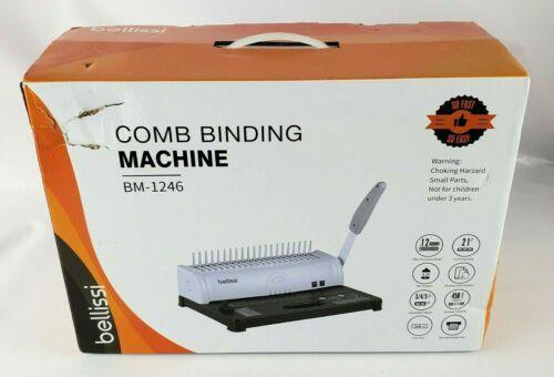 Bellissi COMB BINDING MACHINE BM-1246 New