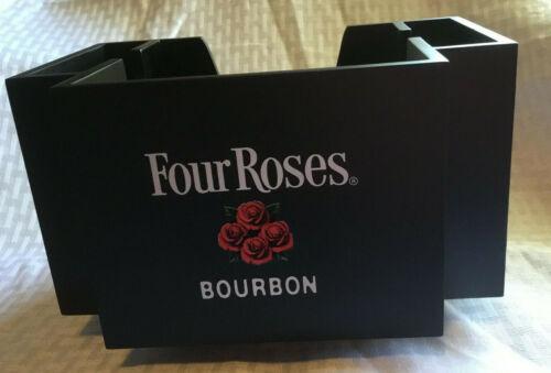 Four Roses Bourbon Napkin Caddy Barware Straw/Swizzle Stick Holder