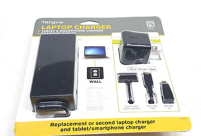 Targus Laptop Charger + Tablet & Smartphone Charger -