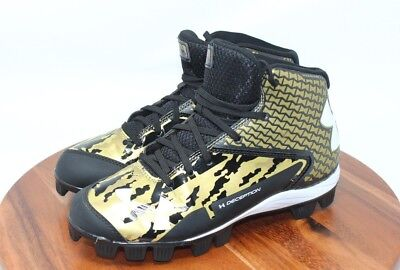 best service cec78 06bed Under Armour Deception DT Mid DiamondTips Metal Mens Baseball Cleats Green  7.5