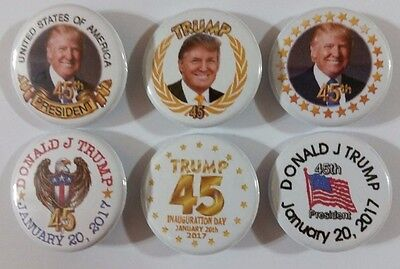 Inauguration Day President Donald TRUMP Badge Button Pin set of 6