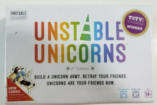Unstable Unicorns Card Game 2nd EDITION, BRAND NEW SEALED