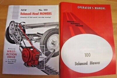 Ih International Farmall Mccormick 100 2pt 3pt Sickle Mower Manual Brochure