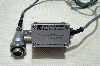 Hbm Screw Torque Transducer Screw Measuring Shaft Type T4a 100nm 2mvv