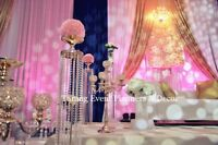 Stage decor, balloons garlands, party rentals, photo backdrops