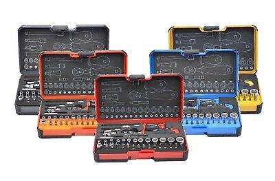 FELO Werkzeugset Steckschlüssel  Ergonic Ratsche Bits Bithalter Nüsse Nut 36-tlg (Werkzeug-set Ratsche)