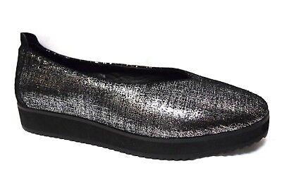 TS shoes TAKING SHAPE sz 11 / 42 Bronte Ballet Flats metallic finish comfy NIB!