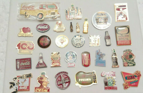 31 Coca Cola Advertising Coke Lapel Pins pin lot