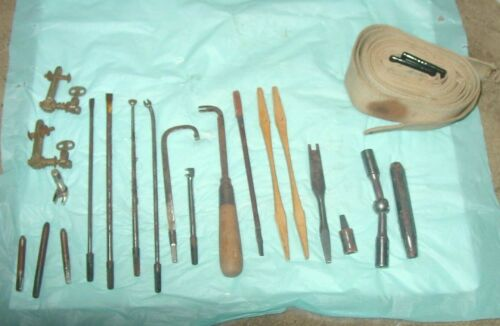 "PIANO TUNING TOOLS (ANTIQUE) GROUP #8;  21 ITEMS; SOME ""LYON & HEALY, CHICAGO"""
