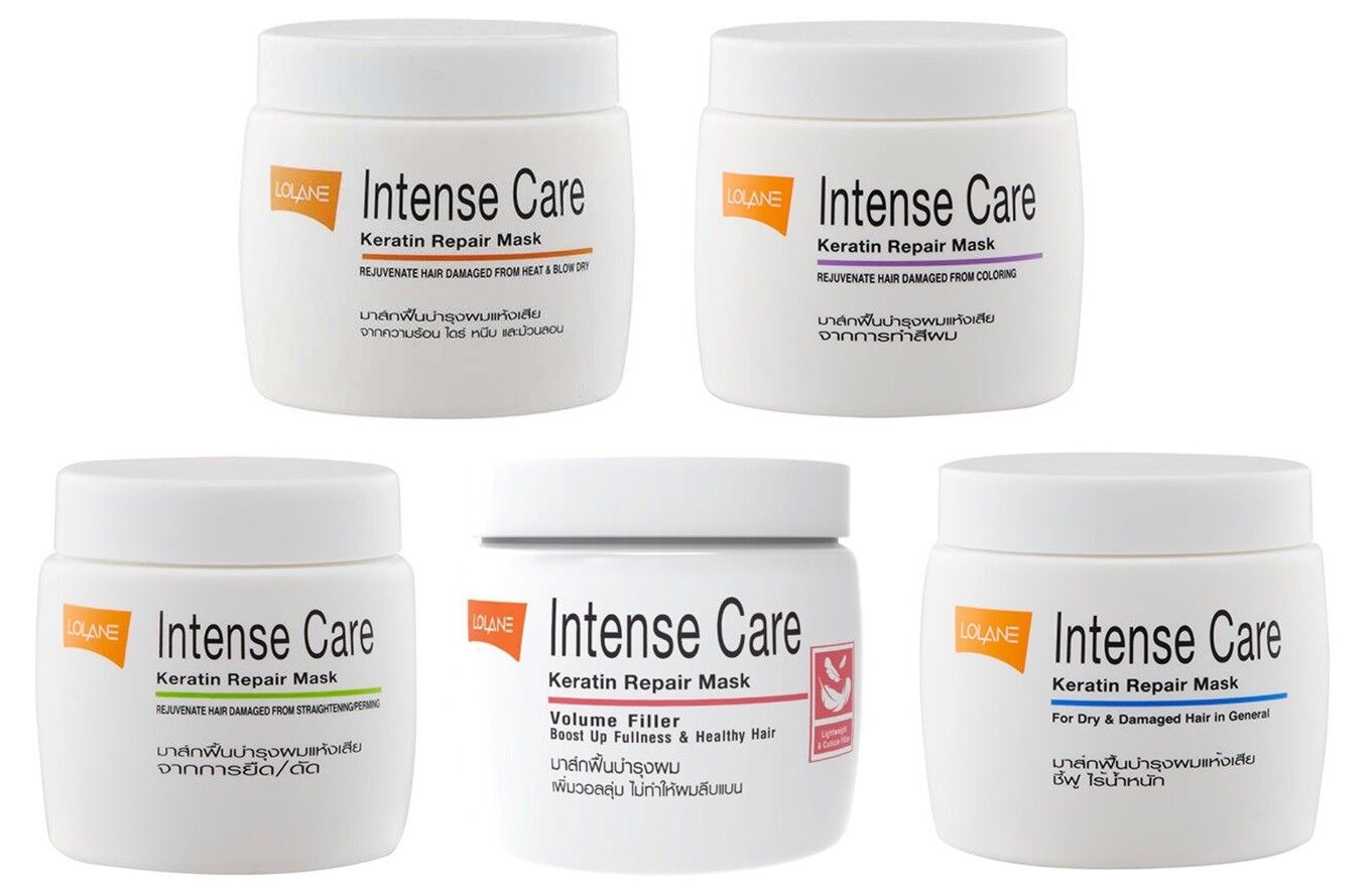 Lolane intense keratin repair mask hair damaged coloring dry