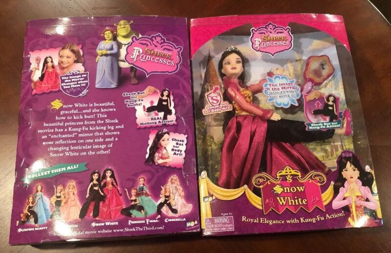 NIB Dreamwork Shrek Kung Fu Princess Snow White MGA RARE Tattoo Kicking Doll NEW